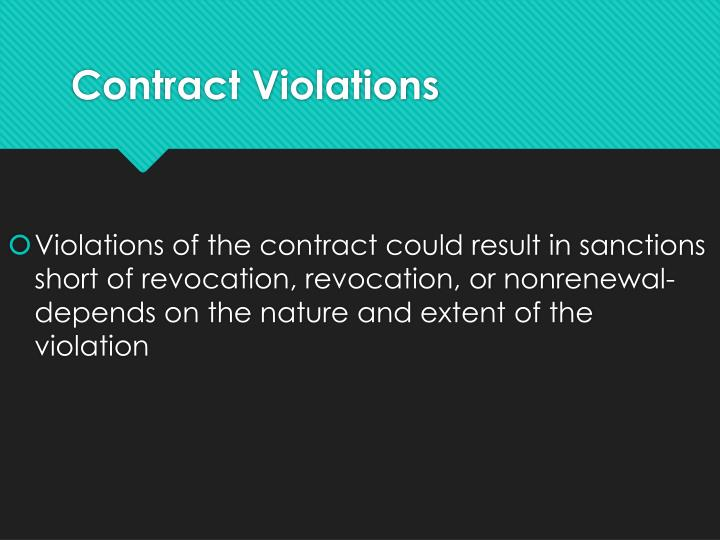 Contract Violations
