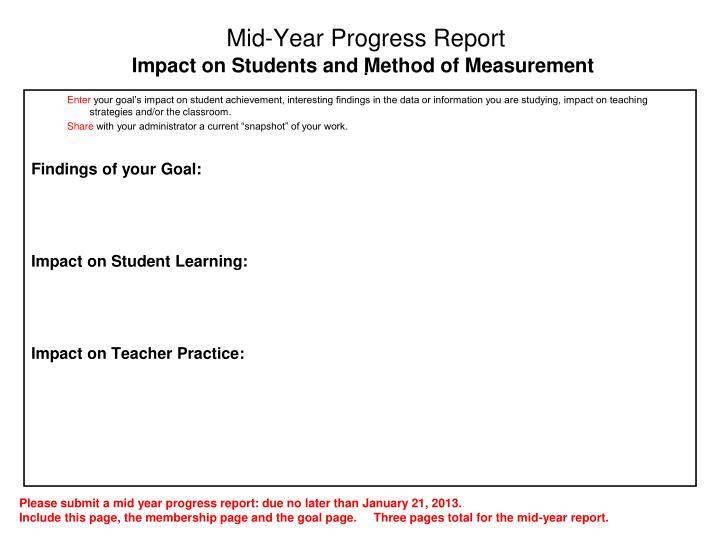 Mid-Year Progress Report