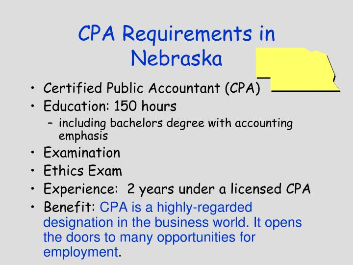CPA Requirements in Nebraska