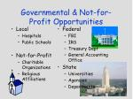 governmental not for profit opportunities