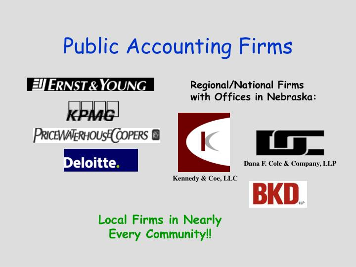 Public accounting firms