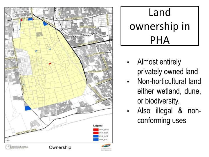 Land ownership in PHA