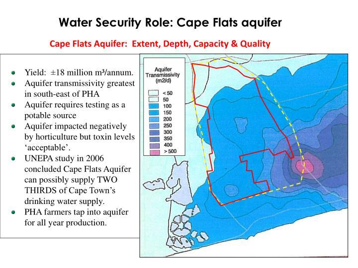 Water Security Role: Cape Flats aquifer