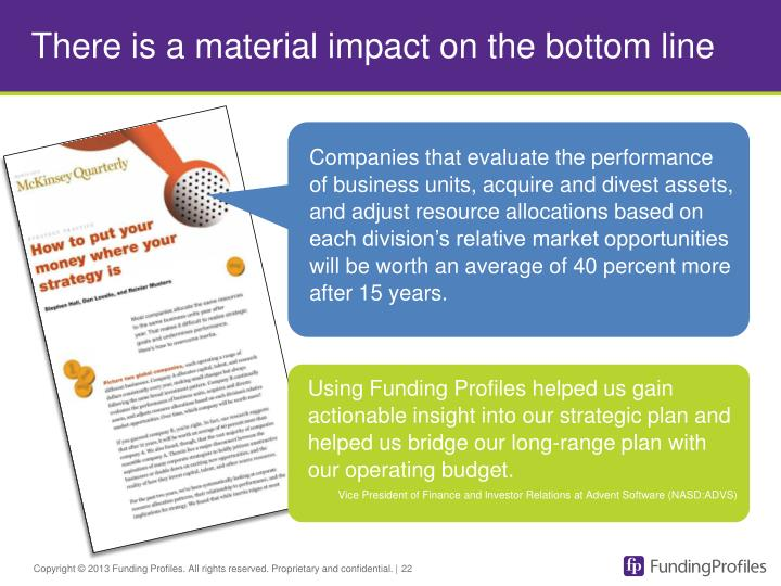 There is a material impact on the bottom line