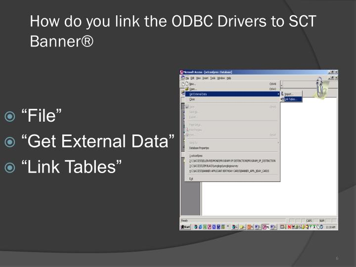 How do you link the ODBC Drivers to