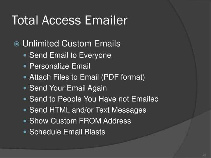 Total Access Emailer