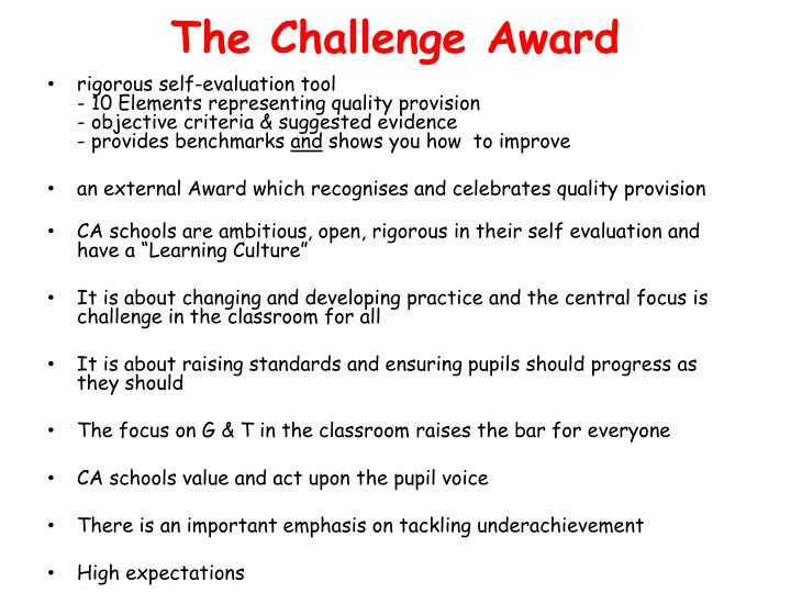 The Challenge Award