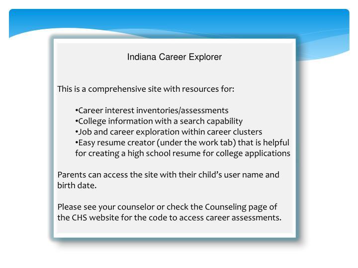 Indiana Career Explorer