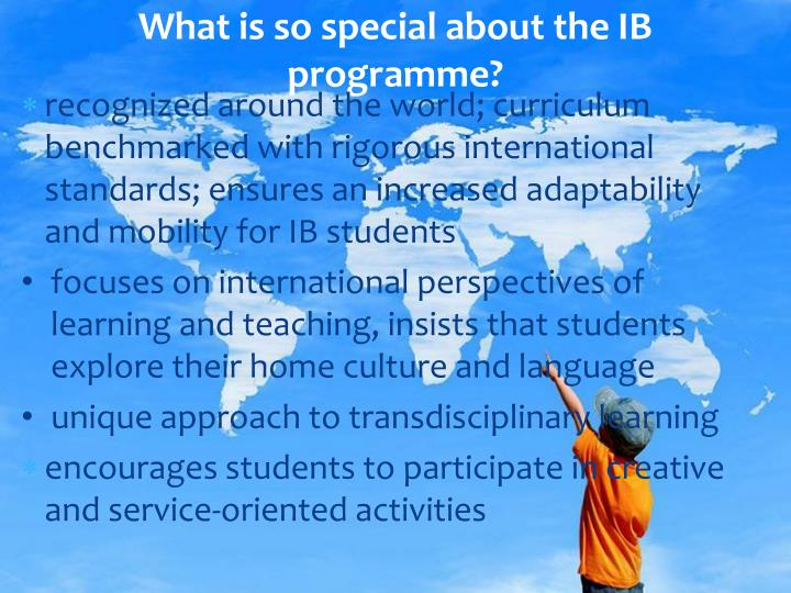 What is so special about the IB programme?