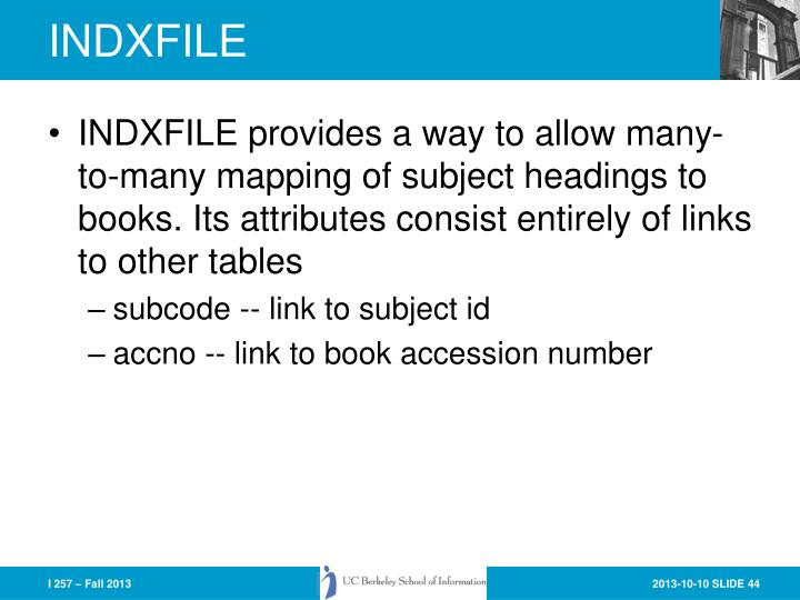 INDXFILE