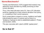 norms benchmarks