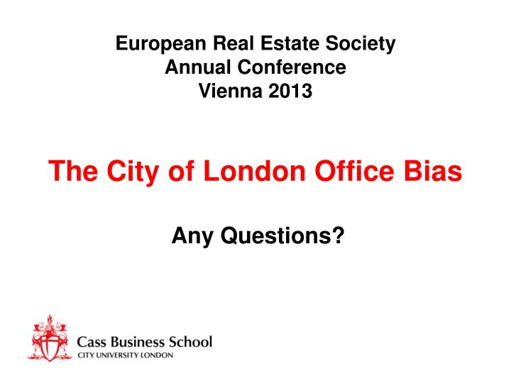 European Real Estate Society