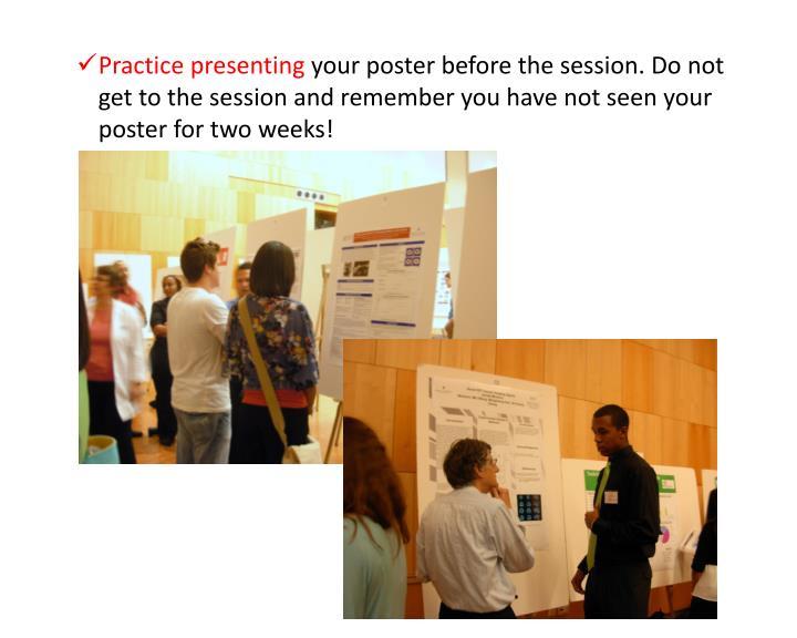 Practice presenting