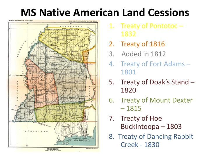 MS Native American Land Cessions