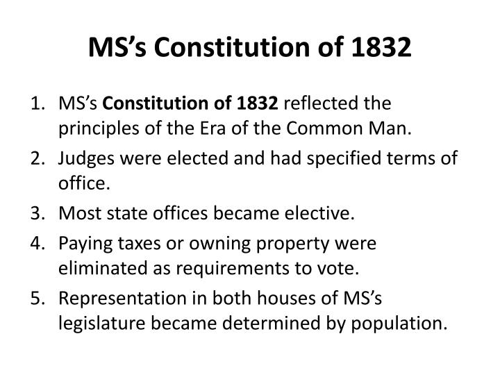 MS's Constitution of 1832