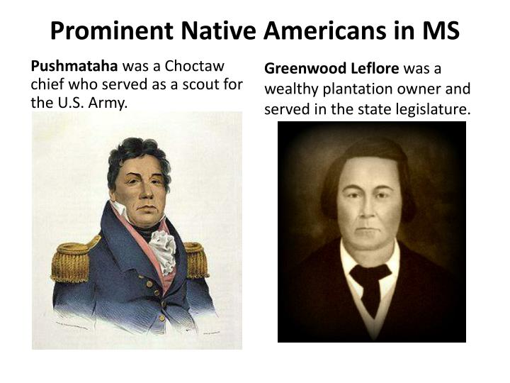 Prominent Native Americans in MS