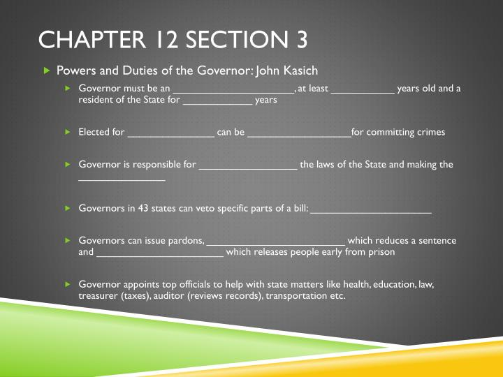 Chapter 12 Section