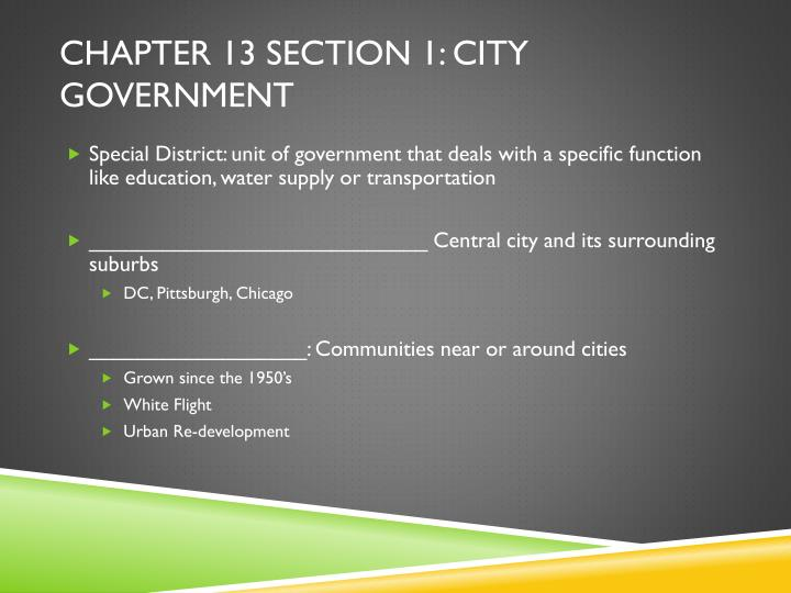 Chapter 13 section