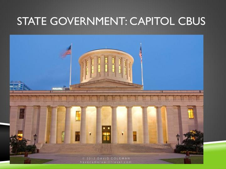 State government: capitol