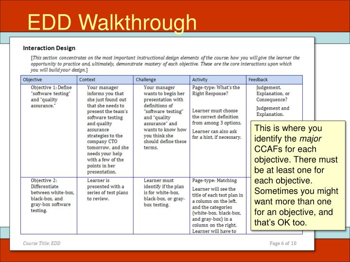 EDD Walkthrough