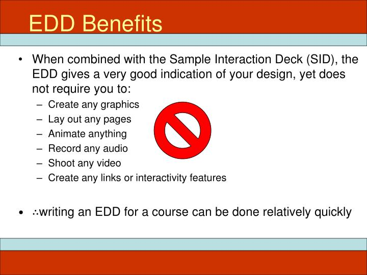 EDD Benefits