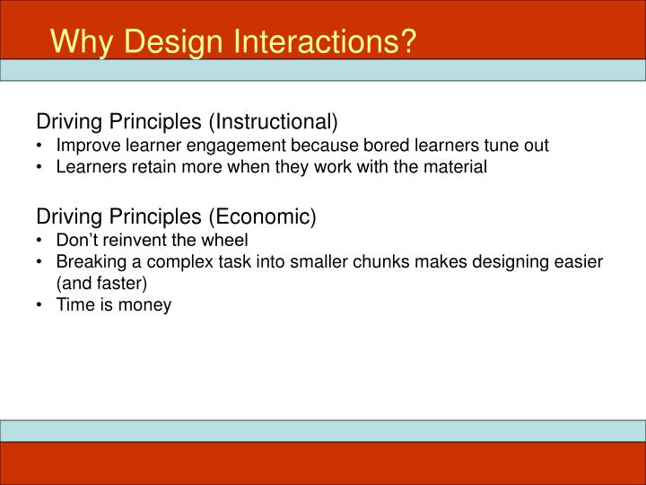 Why design interactions
