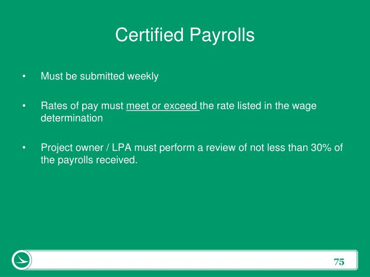 Certified Payrolls