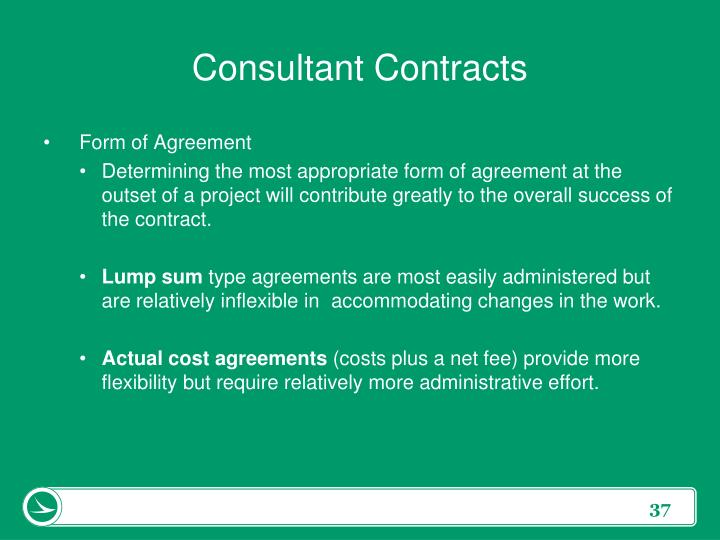 Consultant Contracts