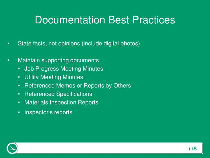 Documentation Best Practices