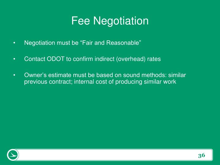 Fee Negotiation