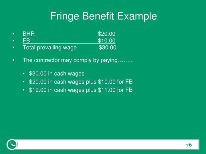 Fringe Benefit Example