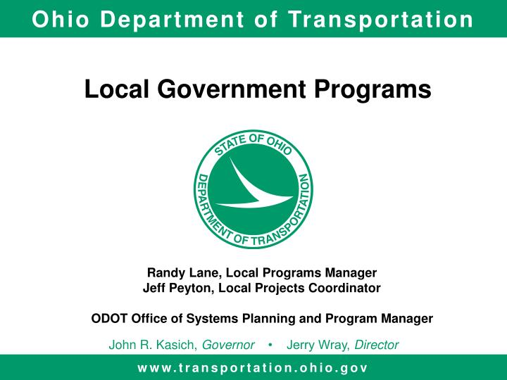 Local government programs
