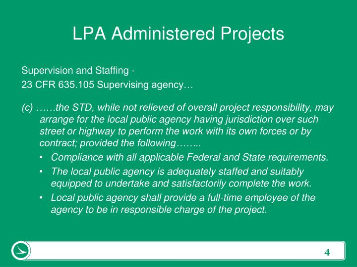 LPA Administered Projects