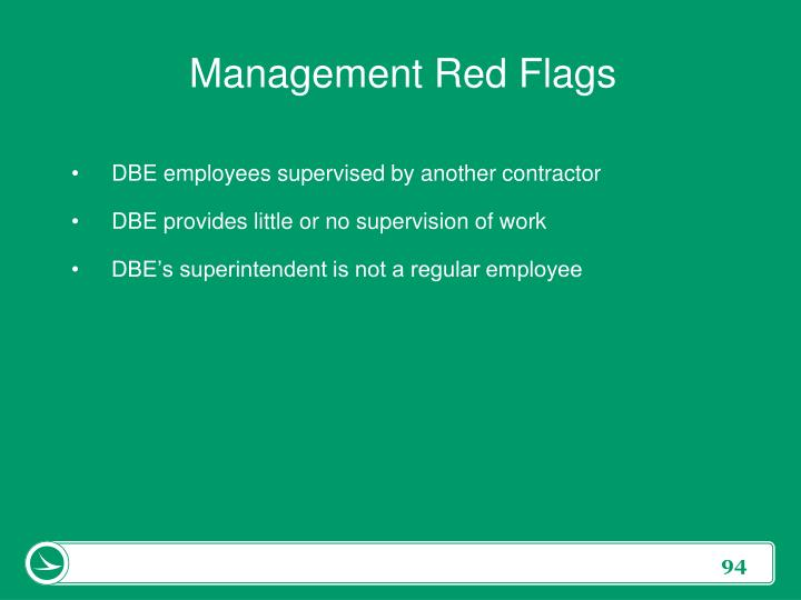 Management Red Flags