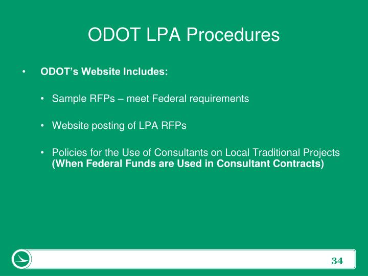 ODOT LPA Procedures