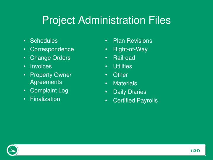 Project Administration Files