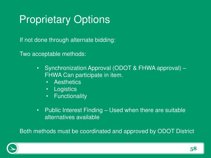 Proprietary Options