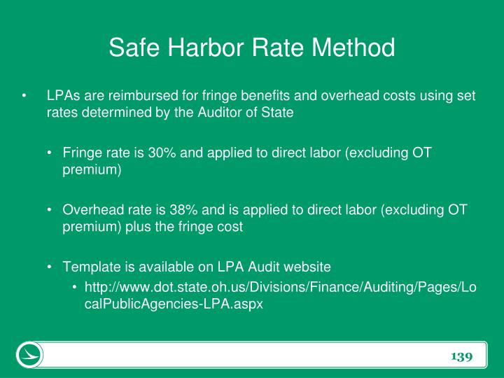 Safe Harbor Rate Method