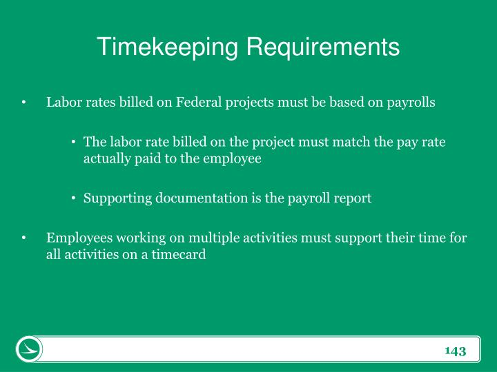 Timekeeping Requirements