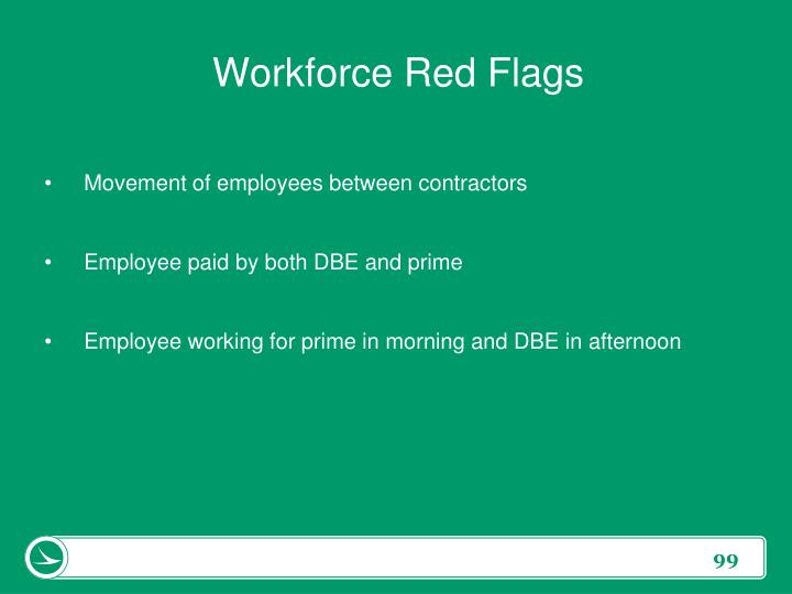 Workforce Red Flags