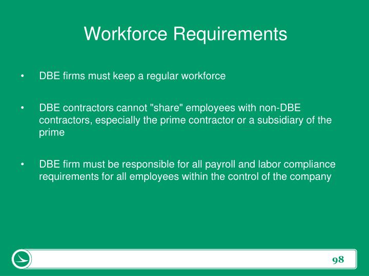 Workforce Requirements