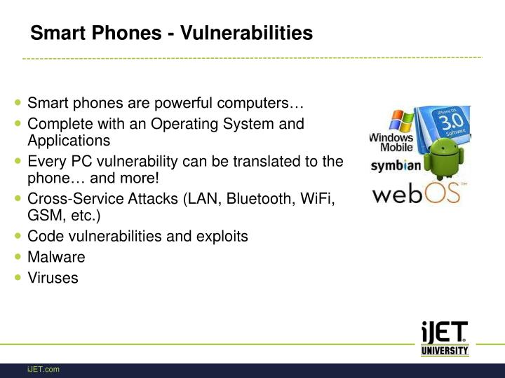 Smart Phones - Vulnerabilities