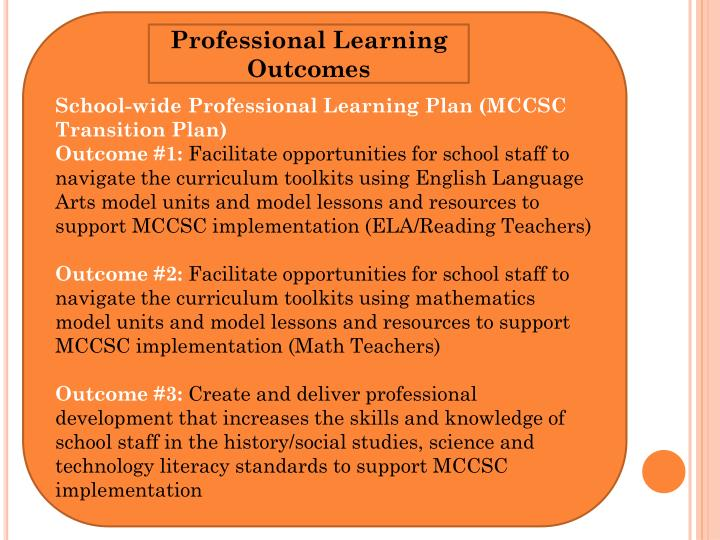 School-wide Professional Learning Plan (MCCSC Transition Plan)
