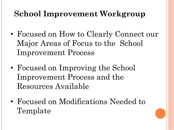 School Improvement Workgroup