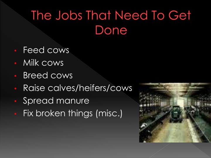 The jobs that need to get done
