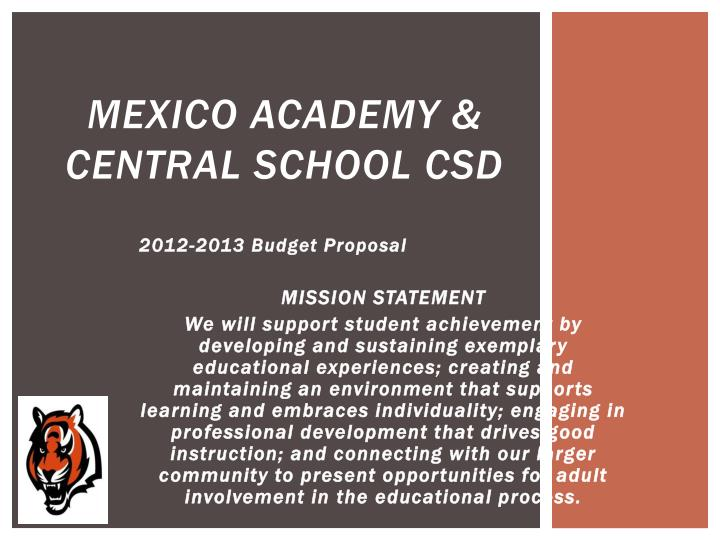 Mexico academy central school csd