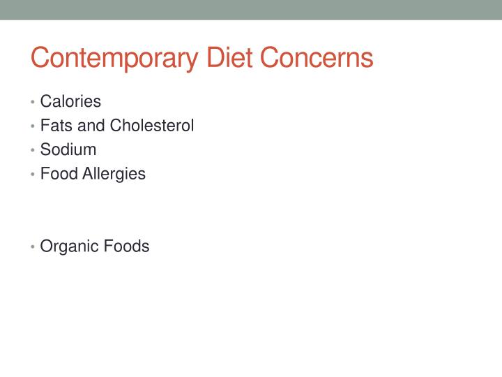 Contemporary Diet Concerns