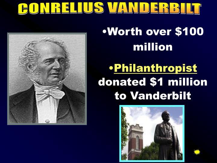 CONRELIUS VANDERBILT