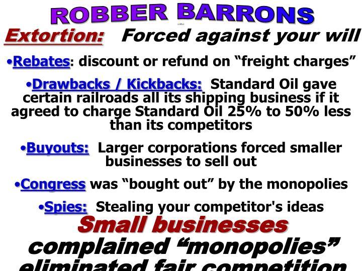 ROBBER BARRONS