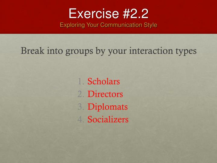 Exercise #2.2